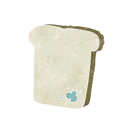 mould: freehand retro cartoon mouldy bread