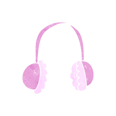 ear muffs: freehand retro cartoon ear muffs