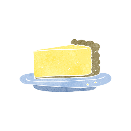 cheesecake: freehand retro cartoon cheesecake