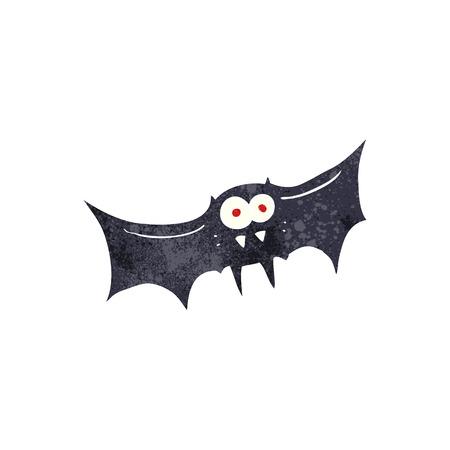 vampire bat: freehand retro cartoon vampire bat