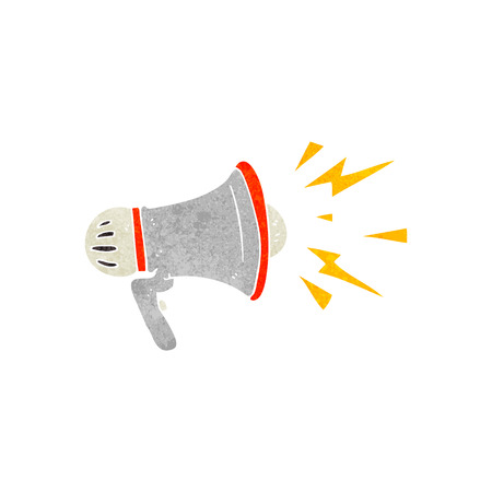 loudhailer: freehand retro cartoon loudhailer