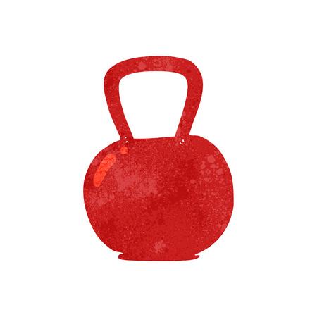 kettle bell: freehand retro cartoon kettle bell