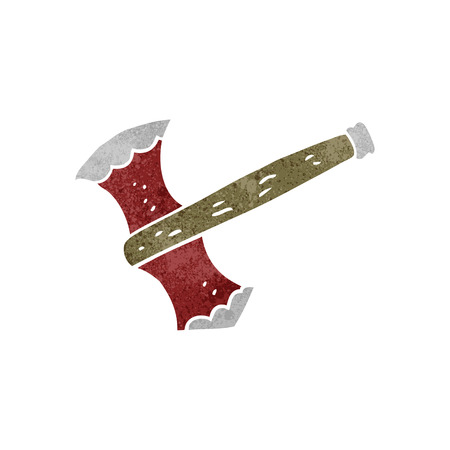 cartoon axe: freehand retro cartoon axe Illustration