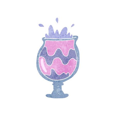 weird: freehand retro cartoon weird cocktail