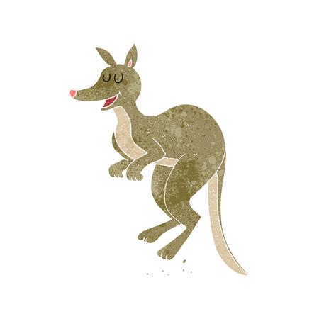 a mano libera canguro cartone animato retrò Vettoriali