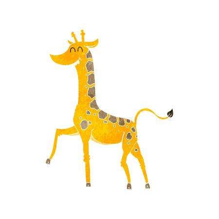 freehand retro cartoon giraffe