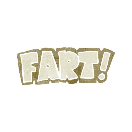 fart: freehand retro cartoon fart symbol Illustration