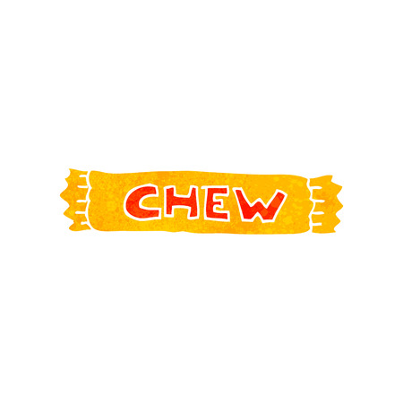 chew: freehand retro cartoon chew