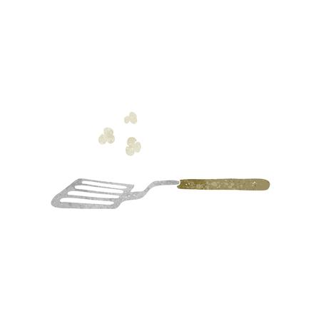 spatula: freehand retro cartoon spatula
