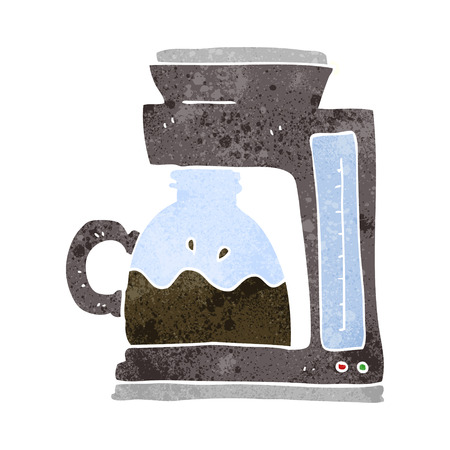 coffee filter: freehand retro cartoon coffee filter machine