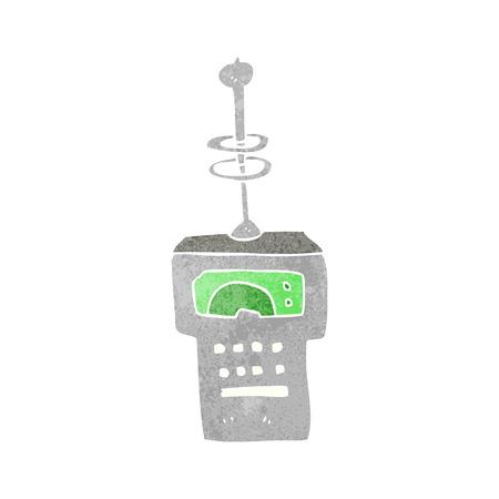 scanner: freehand retro cartoon futuristic scanner