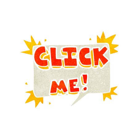 me: freehand retro cartoon click me symbol