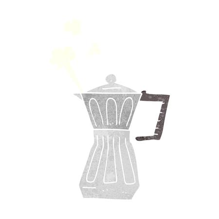 stovetop: freehand retro cartoon espresso stovetop maker