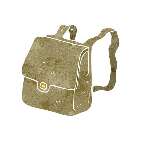 satchel: freehand retro cartoon satchel Illustration