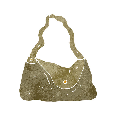 handbag: freehand retro cartoon handbag