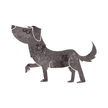 cartoon dog: freehand retro cartoon dog