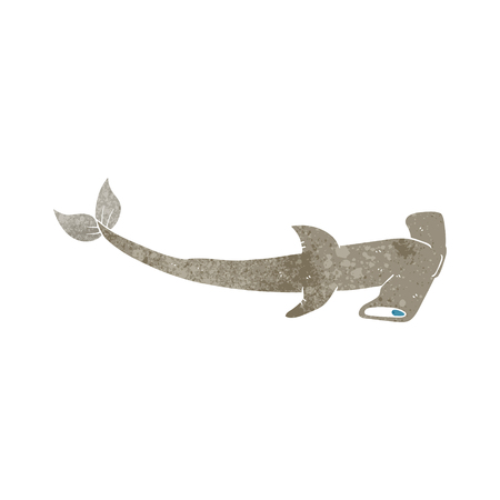 hammerhead: freehand retro cartoon hammerhead shark
