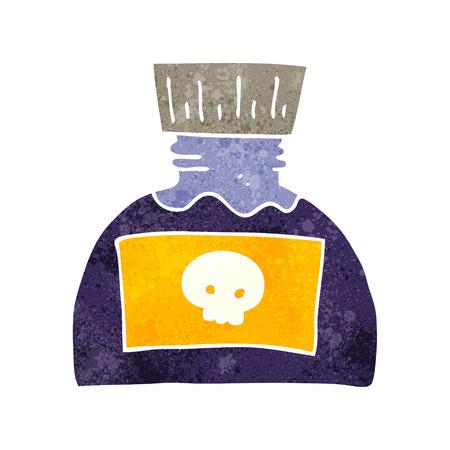 poison: freehand retro cartoon poison