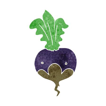 beet: freehand retro cartoon beet
