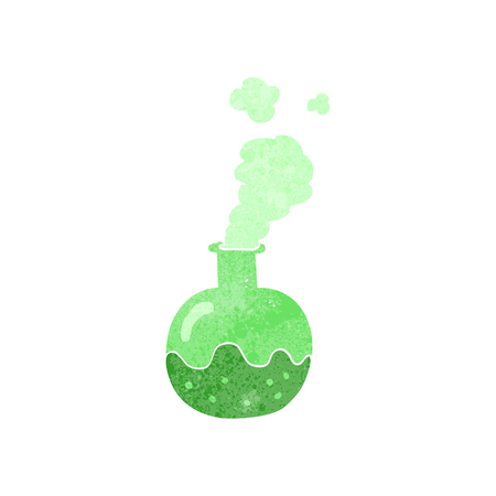 chemical reaction: freehand retro cartoon chemical reaction