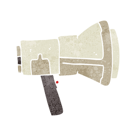 loudhailer: freehand retro cartoon megaphone