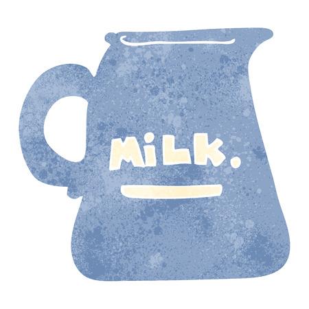 milk jug: freehand retro cartoon milk jug Illustration