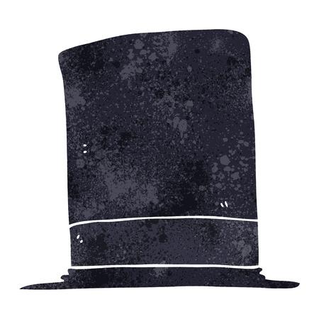 top hat: freehand retro cartoon top hat