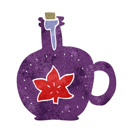 syrup: freehand retro cartoon maple syrup