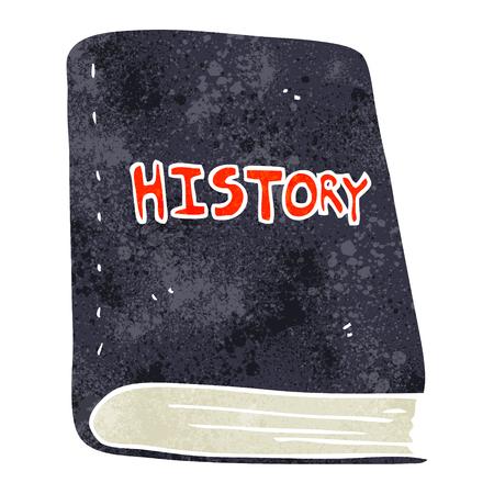 freehand retro cartoon history book