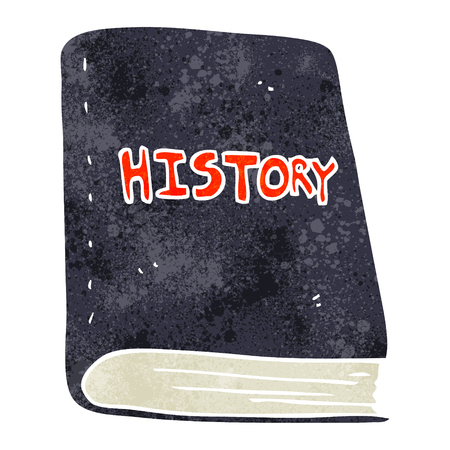 history book: freehand retro cartoon history book