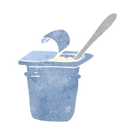 yoghurt: freehand retro cartoon yogurt Illustration