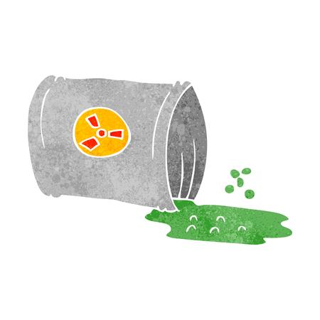 nuclear waste: freehand retro cartoon nuclear waste