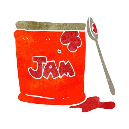 jam jar: freehand retro cartoon jam jar