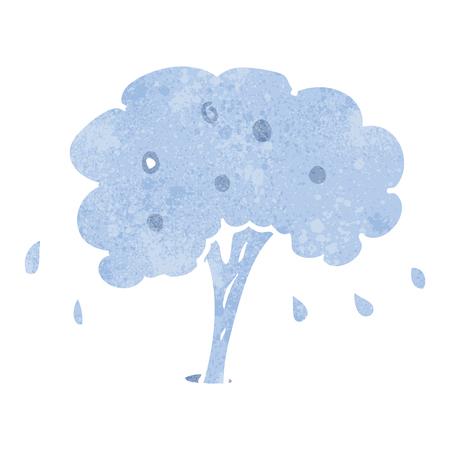 spurt: freehand retro cartoon water spout Illustration