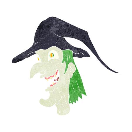 cackling: freehand retro cartoon cackling witch