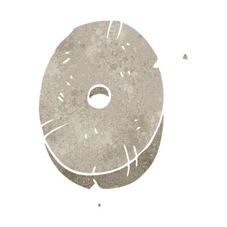 number zero: freehand retro cartoon stone number zero