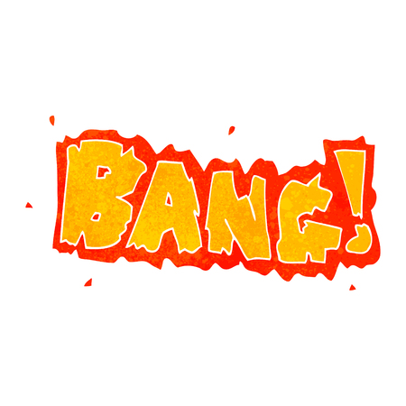 bang: freehand retro cartoon bang symbol