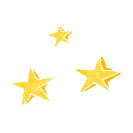 freehand retro cartoon decorative stars doodle