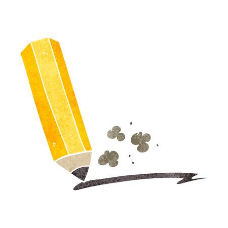 scribbling: freehand retro cartoon pencil