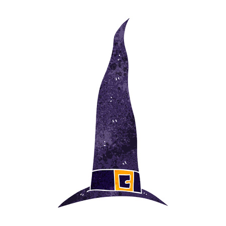 pointy hat: freehand retro cartoon witchs hat