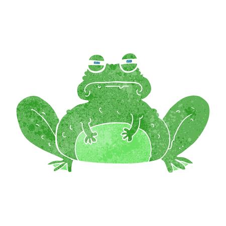 crazy frog: freehand retro cartoon frog
