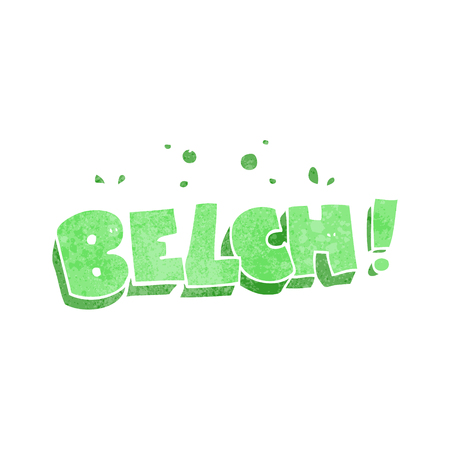 belch: freehand retro cartoon belch text