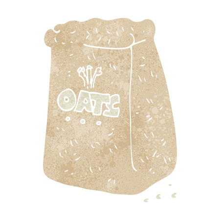 oats: freehand retro cartoon oats