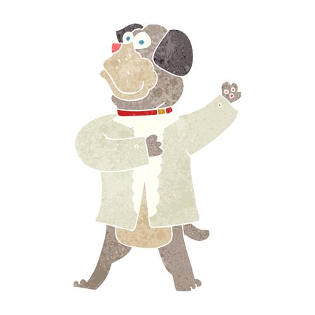cartoon dog: freehand retro cartoon dog in shirt Illustration