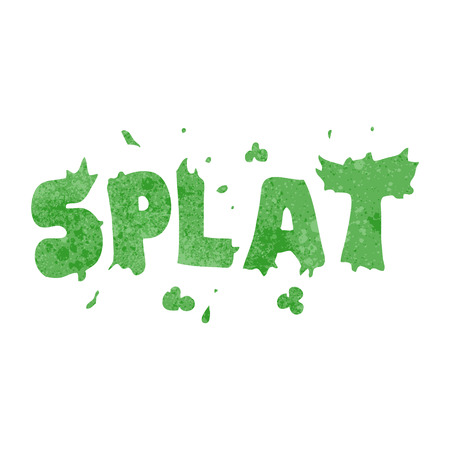 splat: freehand retro cartoon splat