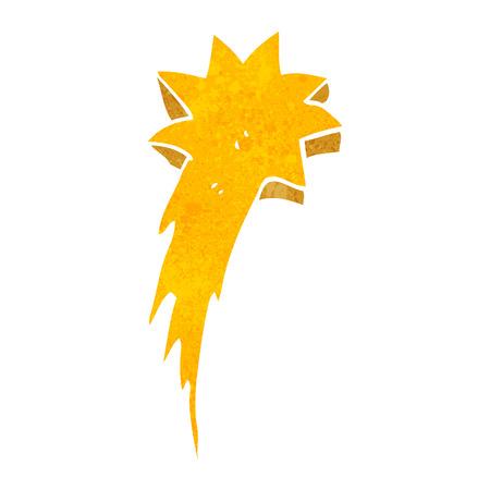 Freehand Retro Cartoon Shooting Star Symbol Royalty Free Cliparts