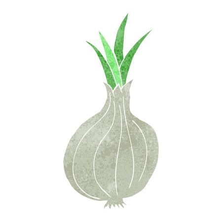 cartoon onion: freehand retro cartoon onion Illustration