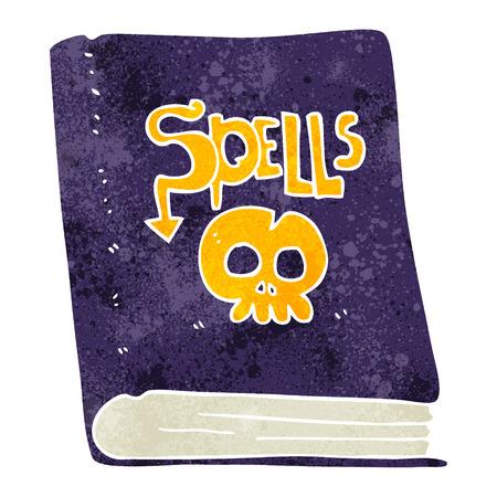 spell: freehand retro cartoon spell book