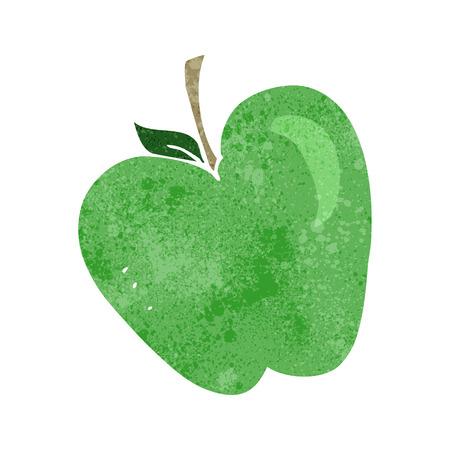 crazy cartoon: freehand retro cartoon apple