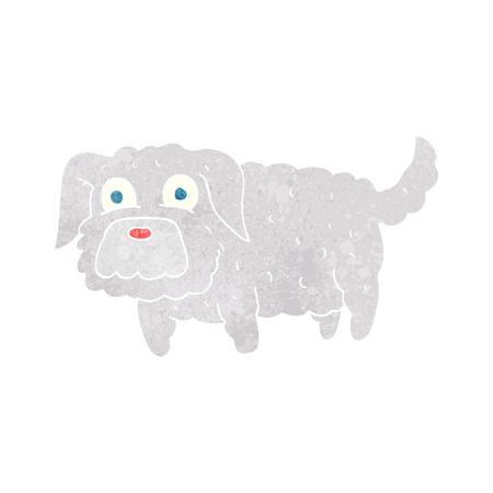 small dog: freehand retro cartoon small dog Illustration